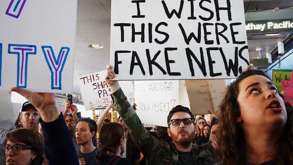 Fake News Statistics - People Protesting